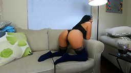 Hot Amateur Wife Jolla Seduces her Husband on the Couch gets Fucked Hard