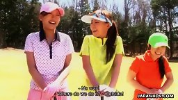 Golf loving hottie Nana Kunimi and her friends get used up English Subbed