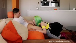 Green Haired Gagger's Stepsis Joins 2! - HD