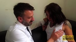 Chatty Brit Chick Spanked & Banged - HD
